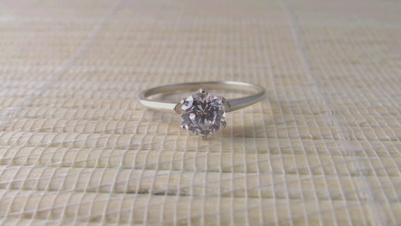 Cubic Zirconia Sterling Silver Ring Ready to ship size 8