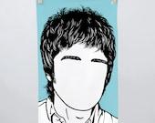 Noel Gallagher Tea Towel, Noel Gallagher Towel, Noel Gallagher Kitchen Towel, Noel Gallagher Merchandise, Blue Tea Towel, Blue Dishcloth