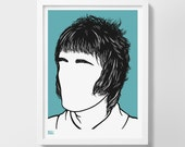 Liam Gallagher, Music Icon Art Print, Gallagher Brother, Music Artist Wall Art,  Liam Gallagher Merchandise, Gifts for Music Lovers