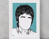 Noel Gallagher Art Print, Noel Gallagher, Singer, Music Artist Wall Art, Gallagher Brother Print, Music Icon Art Print