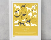 Dogs Art Print, Terriers, Dogs, Animal Wall Art, Dogs Print, Gift for Dog Lovers, Dog Breeds Print, Gift for Animal Lovers