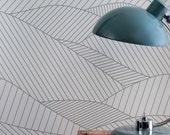 South Downs Wallpaper in Heron Grey - 10m x 52cm roll