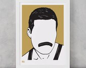 Freddie Mercury Screen Print, Freddie Mercury Wall Art, Freddie Mercury Art, Freddie Mercury Wall Decor, Freddie Merchandise, Music Wall Art