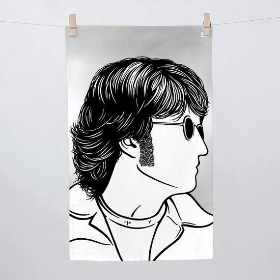 John Lennon Tea Towel John Lennon Towel John Lennon Kitchen Etsy