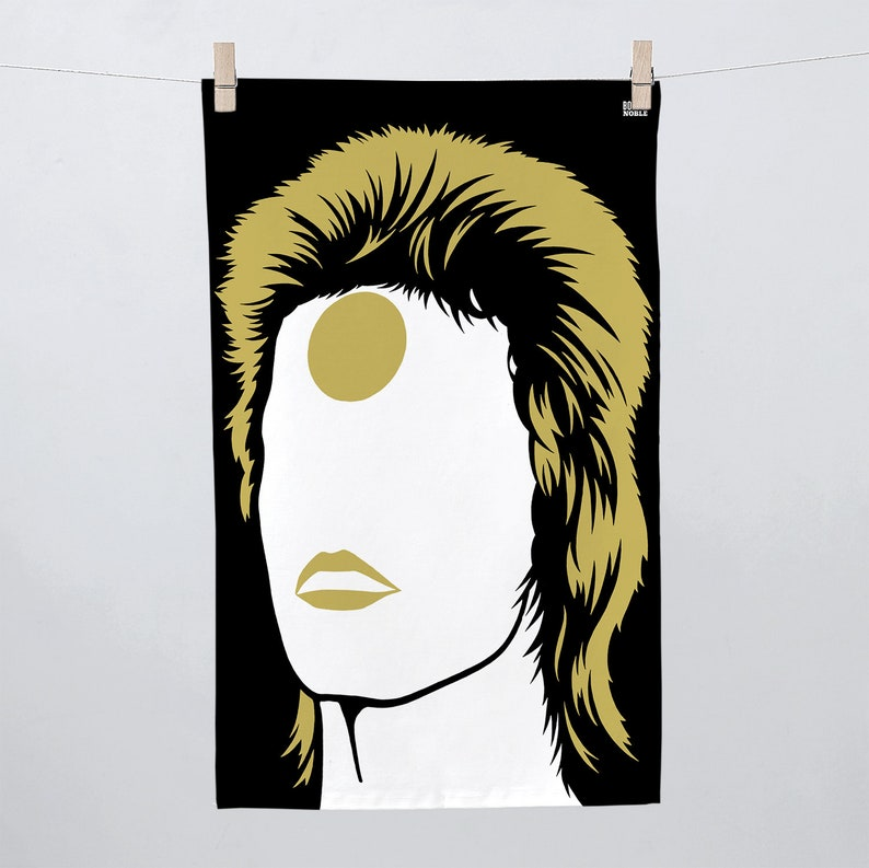 Special Edition Bowie Tea Towel David Bowie Tea Towel Gold image 0