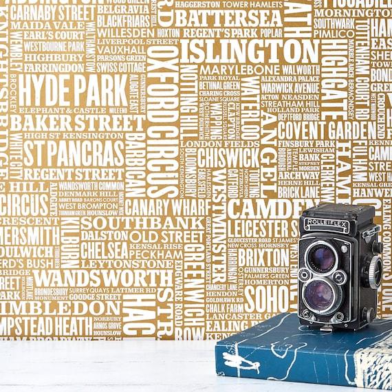 London Type Wallpaper Map Of London Wallpaper Uk Wallpaper Typographic Wallpaper Home Decoration Word Wallpaper
