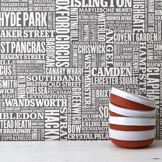London Type Wallpaper Map Of London Wallpaper Uk Wallpaper Typographic Wallpaper Home Decoration Word Wallpaper Grey Wallpaper