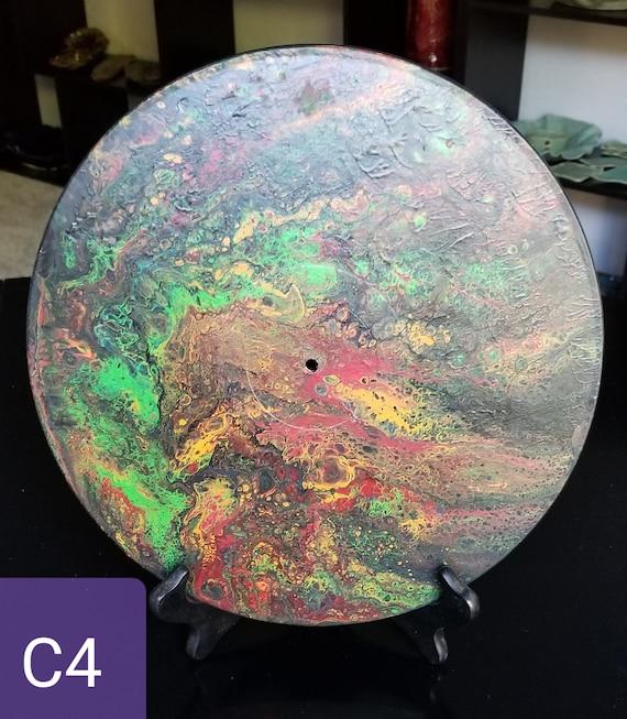 Horloges Acrylique Pour Peinture Vinyl Record Horloge Etsy