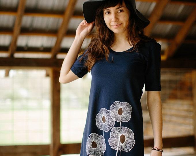Cotton Dress, Flattering A-Line T-Shirt Dress
