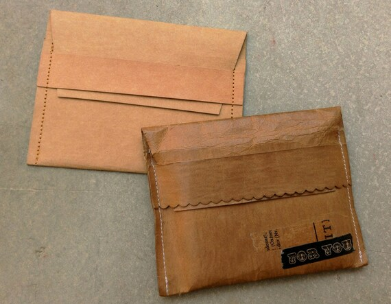 Karten Etui Kraft Papier Visitenkarte Fall Brieftasche Kraft Papier Dünn Geld Beutel Kleine Tasche