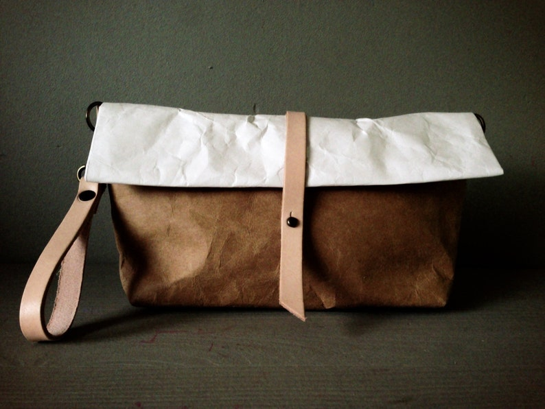 Roll Bag   Tyvek and Kraft clutch paper bag long  0e7109d53eca6