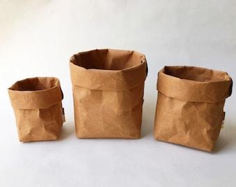 Stockage de Noël jeu: Kraft papier stockage Eco Bag / Sac en papier / panier en papier Bag papier stationnaire / lavable