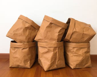 Panier de rangement n ° 10: Kraft papier /Laundry de panier de rangement sejour sac sac éco/Paper Bag panier/Paper Bag papier stationnaire / lavable