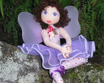 e-Pattern - Ella - a lovely ballerina/fairy cloth doll