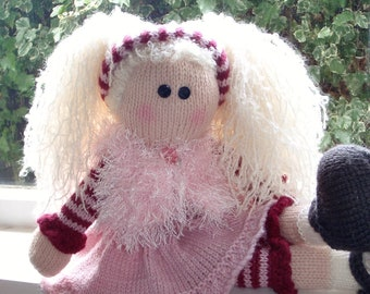 e-Pattern - Knitted  doll - Freya and her little doll Esme  - NEW PATTERN