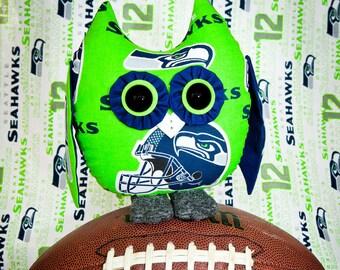 Seattle Seahawk stuffed Owl Pal