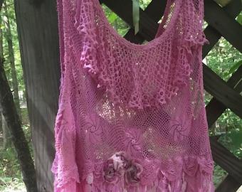 A Lil Pink Lacy Dress
