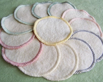 Hemp Facial Cleansing Rounds Pads Washable Reusable Organic Cotton Fleece Eco Friendly Makeup Removers Scrubbies