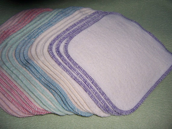 Hemp Organic Cotton Fleece Wash Cloths Baby Face Family Wipes Bath Washcloth