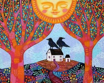 Enchanted Autumn Sunshine - Art Print - Art by Regina Lord
