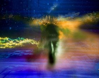 DESTINY'S END, Shadows and Timed Light, Clyde Keller Photo, Fine Art Print, Color, Signed