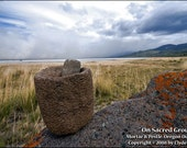 Snakes Indian, MORTAR AND PESTLE, Oregon Outback, Clyde Keller Photo, Fine Art Print, Color, Signed, Treasury, historic