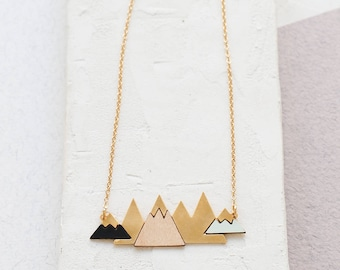 Long Arctic Necklace, Mountain Necklace, Scandinavian design, Mountain Jewelry, Hiking Jewelry, Adventure Jewelry, Hiking Lovers