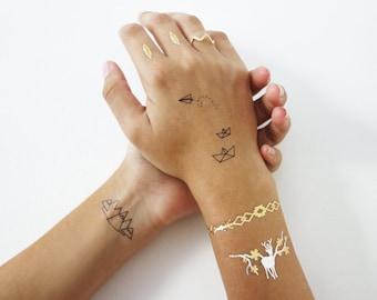 Temporary tattoos, metallic tattoos, designed by Shlomit Ofir,