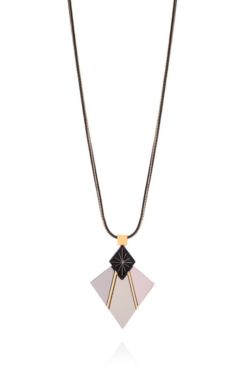 Formica Pendant Silver Formica Necklace Gold Long Necklace Geometric Necklace Kai Necklace