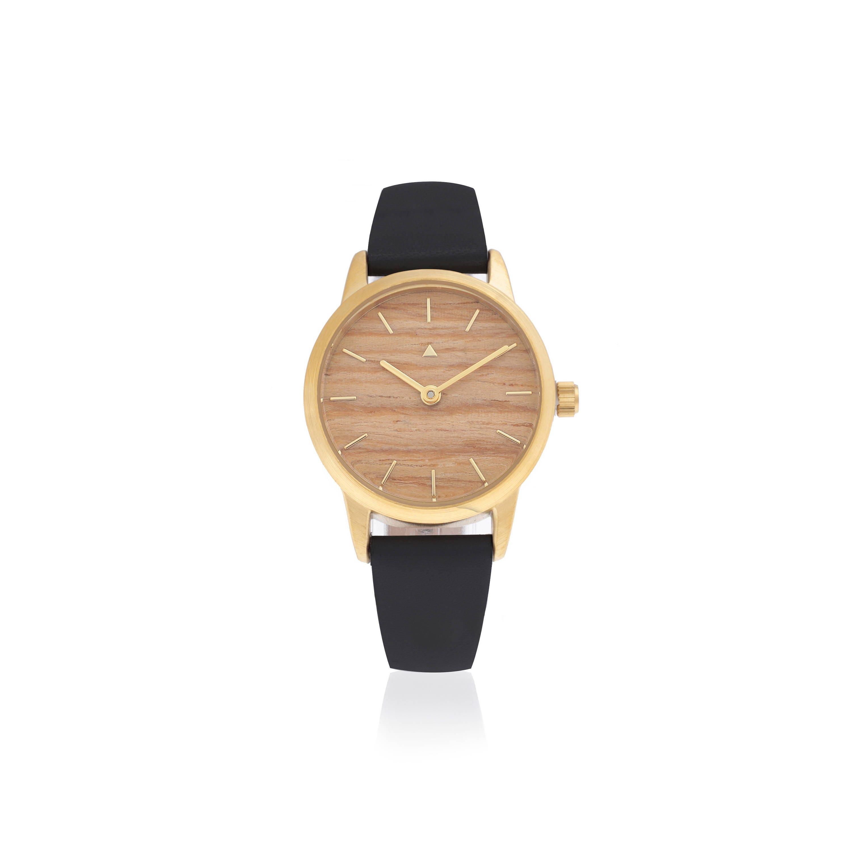 0b95b938f6 25 orologio mm in rovere e nero classico orologio da donna   Etsy