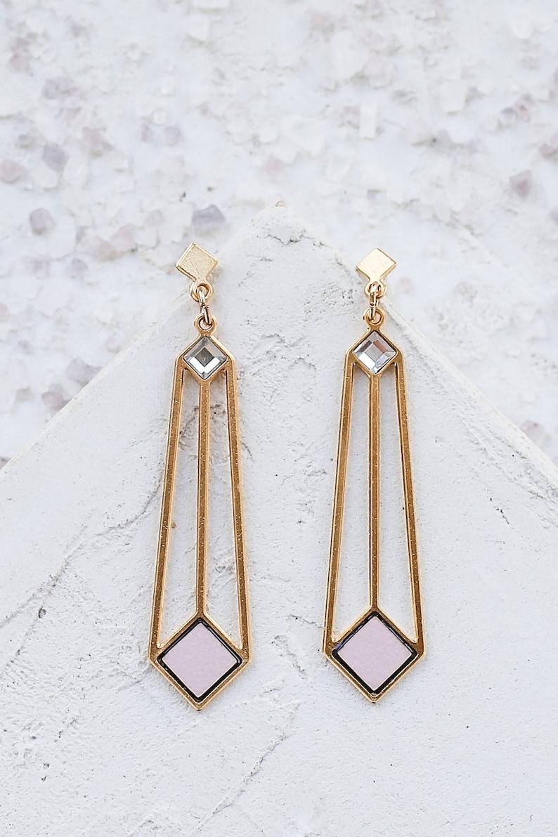 696c58782 Ice Earrings Long Post Earrings Gold Formica Earrings | Etsy