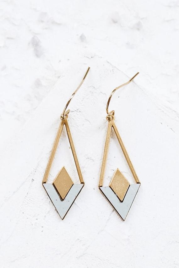 Wholesale Earrings Earring Jewelry supplies Triangle Earrings Chevron Earrings Geometric Jewelry Statement Earrings