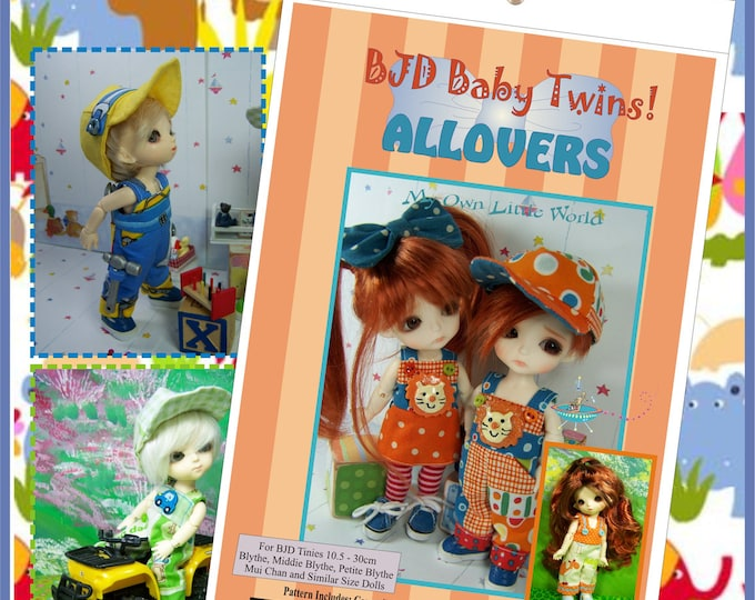 PDF Version - BJD Baby Twins - Allovers  Pattern for BJD Tinies 10.5 - 30cm