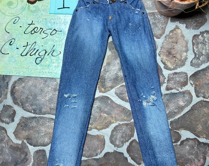 Distressed Jeans for Angel Philia Dolls C Torso C Thigh