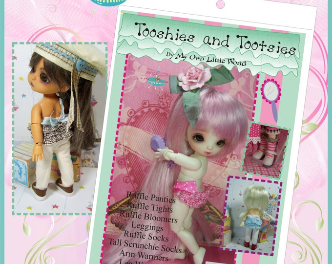 PDF Version - Tooshies and Tootsies Pattern for BJD Tinies 11cm to 27cm