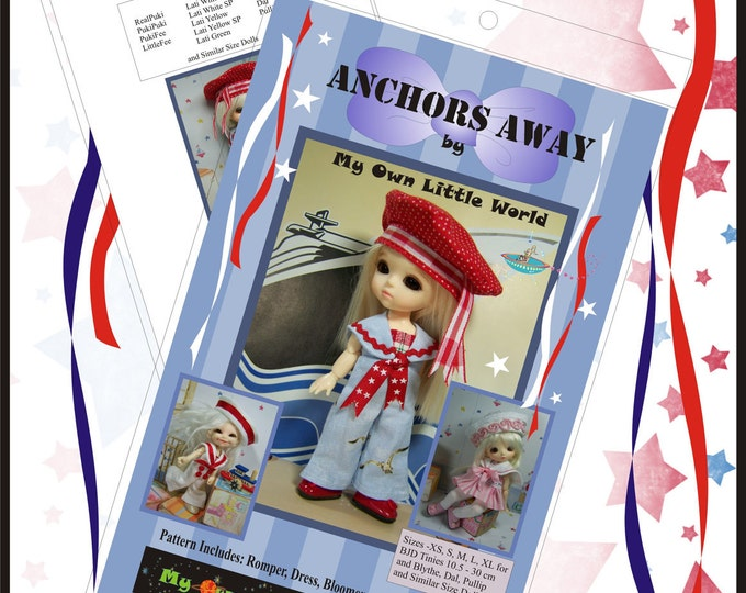 PDF Version - Anchors Away Pattern for BJD Tinies 10.5 - 30cm, and Similar Size Dolls