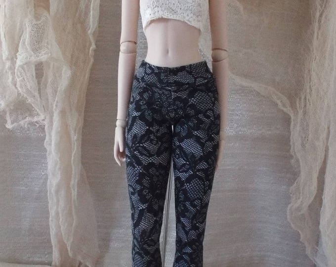 Black Lace Print Leggings for Smart Doll and Dollfie Dream