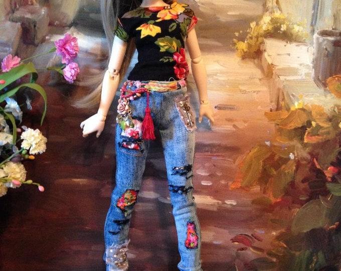 Fancy Pants - Embellished Jeans for Fairyland Minifee Aline and Fairyline BJD Dolls