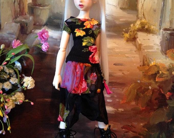 Floral Top and Skirt Set for Fairyland Minifee Aline and Fairyline BJD Dolls