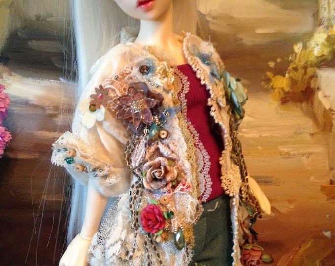 Tattered Boho Top for Fairyland Minifee Aline and Fairyline BJD Dolls