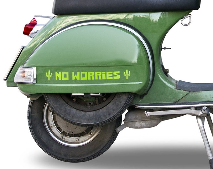 DECAL No Worries - Choose Color & Size