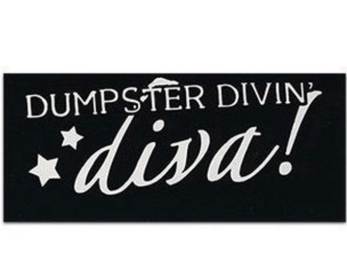 Dumpster Divin Diva STICKER