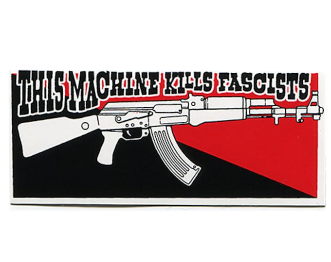 Kills Fascists - STICKER - Free Shipping