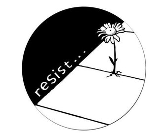Resist Round STICKER - Free Shipping