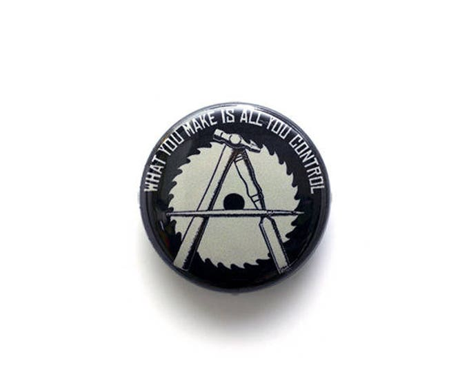 Anarcho-Crafter 1 Inch (2.54 cm) Button or Magnet - Ships Free