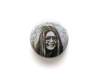 Gloria Steinem 1 inch Button or Magnet - Free Shipping