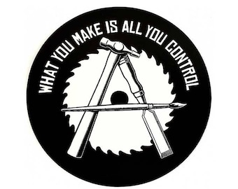 Anarcho-Crafter Round STICKER - Free Shipping