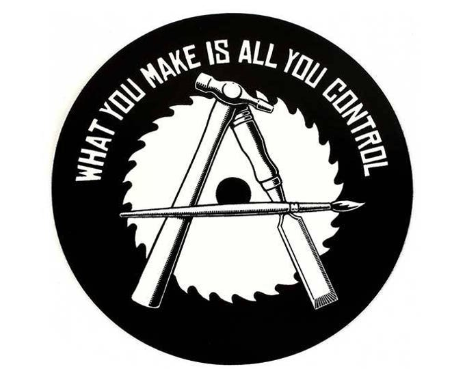 Anarcho-Crafter Round STICKER