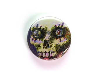 Fiendish Ghoul - One Inch Button or Magnet - Free Shipping