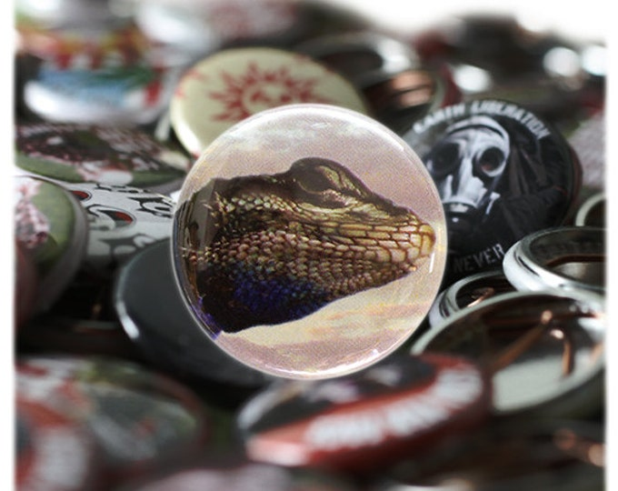 Lizard one inch Button or Magnet - Free Shipping